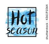 summer calligraphic design... | Shutterstock .eps vector #436191064