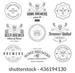 vector beer badges and labels...   Shutterstock .eps vector #436194130