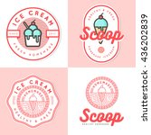 set of logo  badges  banners ... | Shutterstock .eps vector #436202839