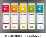 infographic design template.... | Shutterstock .eps vector #436203274