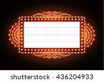 brightly vintage glowing retro... | Shutterstock .eps vector #436204933