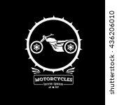 vintage motorcycle label or...   Shutterstock .eps vector #436206010