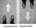 two businessmen standing on...   Shutterstock . vector #436207804