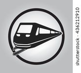 electric train icon circle  ... | Shutterstock .eps vector #436212910