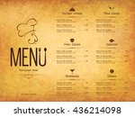 restaurant menu design. vector... | Shutterstock .eps vector #436214098