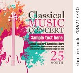 music concert poster for a... | Shutterstock .eps vector #436217740