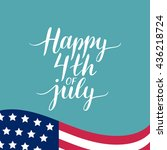 vector 4th of july celebration... | Shutterstock .eps vector #436218724