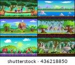 game background vector set | Shutterstock .eps vector #436218850