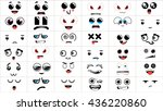 set of 36 different pieces of... | Shutterstock .eps vector #436220860