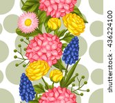 seamless pattern with garden... | Shutterstock .eps vector #436224100