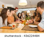 multi ethnic group of happy... | Shutterstock . vector #436224484
