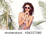 summer style portrait of young... | Shutterstock . vector #436227280