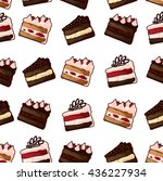 vector cakes pattern