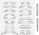vintage ribbon | Shutterstock .eps vector #436231546