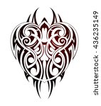 maori style tattoo shape as... | Shutterstock .eps vector #436235149