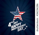 fourth of july independence day | Shutterstock .eps vector #436236286