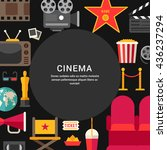cinema concept. flat style... | Shutterstock .eps vector #436237294