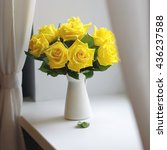 Yellow Roses Bouquet On A...
