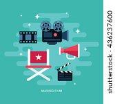 making film concept... | Shutterstock .eps vector #436237600