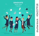 vector character graduate and... | Shutterstock .eps vector #436237918