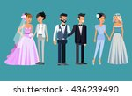 nontraditional family. happy... | Shutterstock .eps vector #436239490