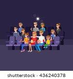 family cinema movie poster or... | Shutterstock .eps vector #436240378