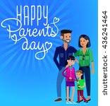 happy parents day background ... | Shutterstock .eps vector #436241464