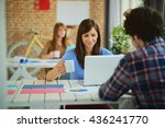 meeting in architects office | Shutterstock . vector #436241770