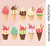collection of delicious tasty... | Shutterstock .eps vector #436241914