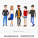 creative team people. teamwork  ... | Shutterstock .eps vector #436242154