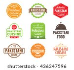 pakistani cuisine  authentic... | Shutterstock .eps vector #436247596