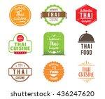 thai cuisine  authentic... | Shutterstock .eps vector #436247620