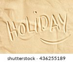 The Word Holiday Handwritten I...