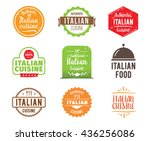 italian cuisine  authentic... | Shutterstock .eps vector #436256086