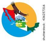 vector image of a bird condor...   Shutterstock .eps vector #436257316