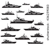 set  icons of motor yachts... | Shutterstock .eps vector #436259083