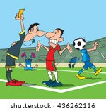 football referee makes a remark ... | Shutterstock .eps vector #436262116