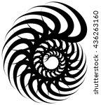 spiral volute  snail shape ... | Shutterstock .eps vector #436263160