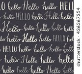 seamless pattern with hello... | Shutterstock .eps vector #436267354