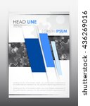 brochure design template. cover ... | Shutterstock .eps vector #436269016