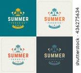 summer holidays retro... | Shutterstock .eps vector #436275634
