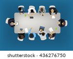 business meeting concept... | Shutterstock .eps vector #436276750