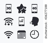 mobile telecommunications icons.... | Shutterstock .eps vector #436277188