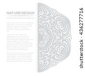 vector nature decor for your... | Shutterstock .eps vector #436277716