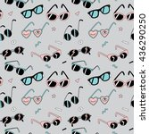 seamless pattern with cool...   Shutterstock .eps vector #436290250