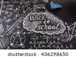 back to school background with... | Shutterstock . vector #436298650