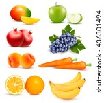 big group of different fruit... | Shutterstock .eps vector #436301494