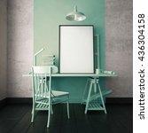 3d illustration interior.... | Shutterstock . vector #436304158