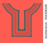 geometric  tribal jewelry...   Shutterstock .eps vector #436308268