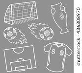 football theme. vector set.   Shutterstock .eps vector #436308970